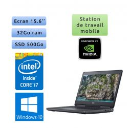 Dell Precision 7520 - Windows 10 - i7 32Go 500Go SSD - 15.6 - Webcam - M2200 - Station de Travail Mobile PC Ordinateur