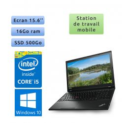 Lenovo ThinkPad L540 - Windows 10 - i5 16Go 500Go SSD - 15.6 - Webcam - Workstation Ordinateur Portable PC