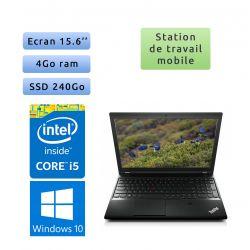 Lenovo ThinkPad L540 - Windows 10 - i5 4Go 240Go SSD - 15.6 - Webcam - Workstation Ordinateur Portable PC