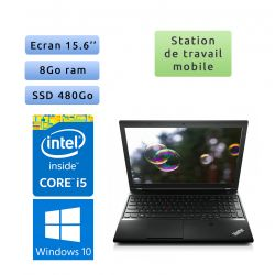 Lenovo ThinkPad L540 - Windows 10 - i5 8Go 480Go SSD - 15.6 - Workstation Ordinateur Portable PC