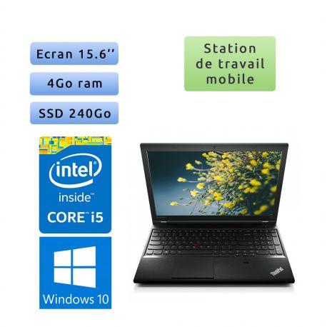 Lenovo ThinkPad L540 - Windows 10 - i5 4Go 240Go SSD - 15.6 - Workstation Ordinateur Portable PC