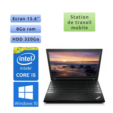 Lenovo ThinkPad L540 - Windows 10 - i5 8Go 320Go - 15.6 - Ordinateur Portable PC