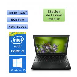Lenovo ThinkPad L540 - Windows 10 - i5 8Go 500Go - 15.6 - Ordinateur Portable PC Workstation