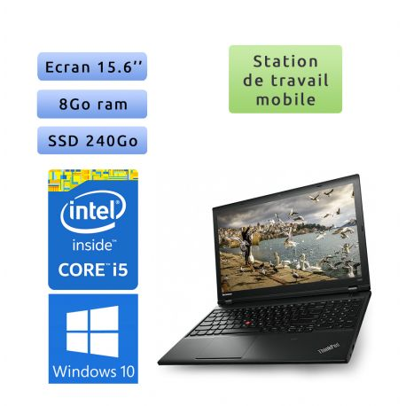 Lenovo ThinkPad L540 - Windows 10 - i5 8Go 240Go SSD - 15.6 - Ordinateur Portable PC