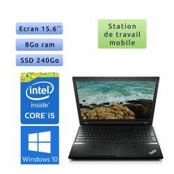 Lenovo ThinkPad L540 - Windows 10 - i5 8Go 240Go SSD - 15.6 - Ordinateur Portable PC Workstation