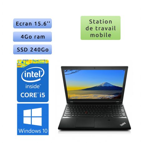 Lenovo ThinkPad L540 - Windows 10 - i5 4Go 240Go SSD - 15.6 - Ordinateur Portable PC
