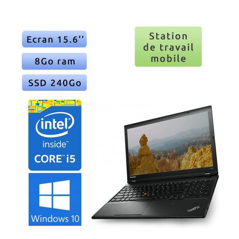 Lenovo ThinkPad L540 - Windows 10 - i5 8Go 240Go SSD - 15.6 - Ordinateur Portable Workstation PC