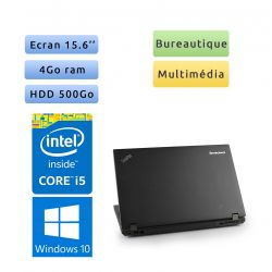 Lenovo Thinkpad L540 - Windows 10 - i5 4Go 500Go - 15.6 - webcam - Grade B - Ordinateur Portable PC