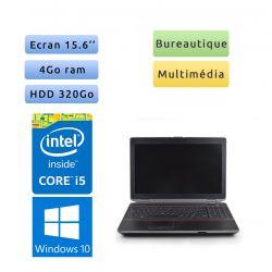 Dell Latitude E6520 - Windows 10 - i5 4Go 320Go - 15.6 - Grade B - Ordinateur Portable PC