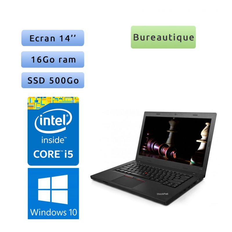 Lenovo ThinkPad L460 - Windows 10 - i5 16Go 500Go SSD - 14 - Webcam - Ordinateur Portable PC