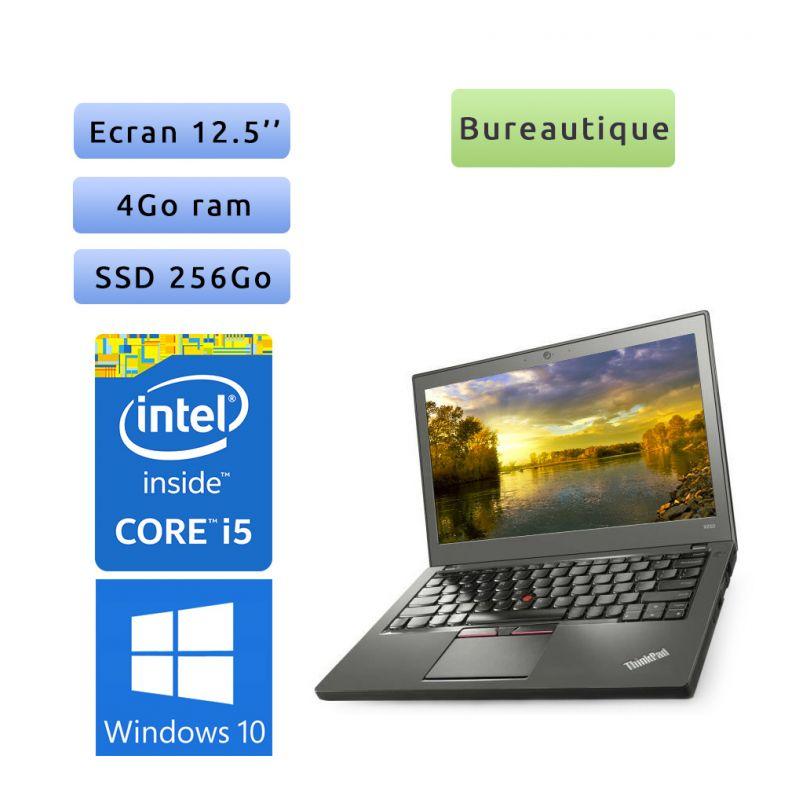Lenovo ThinkPad X270 - Windows 10 - i5 4Go 256Go SSD - 12.5 - Webcam - Ordinateur Portable PC