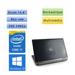 Dell Latitude E6520 - Windows 10 - i7 8Go 240Go SSD - 15.6 - Webcam - Grade B - Ordinateur Portable PC