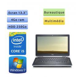 Dell Latitude E6320 - Windows 7 - i5 4Go 250Go - 13.3 - Ordinateur Portable PC