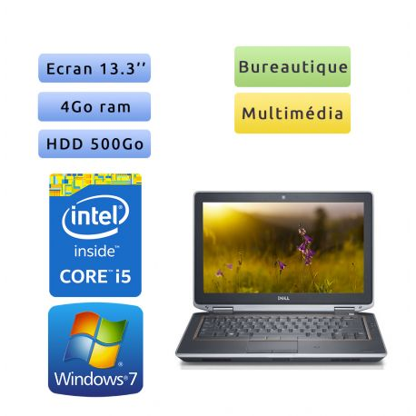 Dell Latitude E6320 - Windows 7 - i5 4Go 500Go - 13.3 - Ordinateur Portable PC