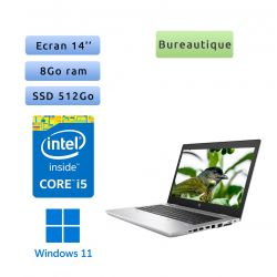 HP ProBook 640 G4 - Windows 11 - i5 8Go 512Go SSD - 14 - Webcam - Ordinateur Portable PC