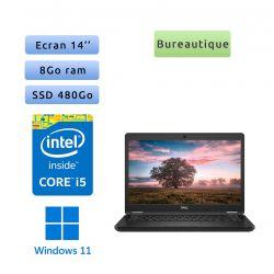 Dell Latitude 5490 - Windows 11 - i5 8Go 480Go SSD - 14 - Webcam - Ordinateur Portable PC