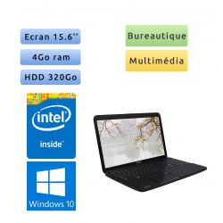 Toshiba Satallite Pro C850-10R - Windows 10 - 1.6Ghz 4Go 320Go - 15.6 - Webcam - Ordinateur Portable PC