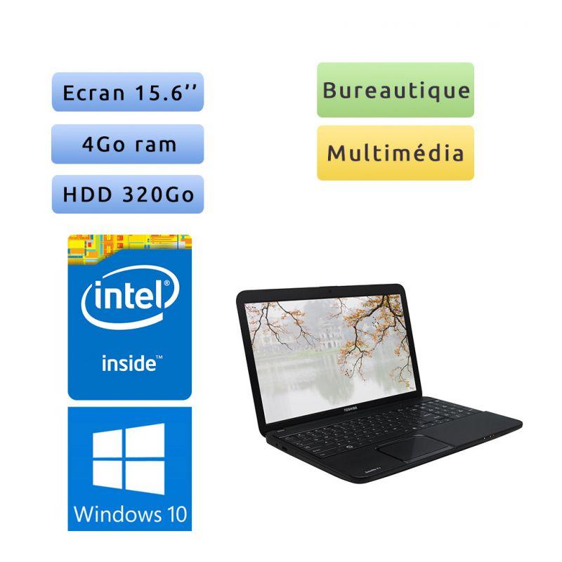 Toshiba Satellite Pro C850-10R - Windows 10 - 1.6Ghz 4Go 320Go - 15.6 - Webcam - Ordinateur Portable PC
