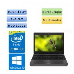 HP Probook 6570b - Windows 10 - i5 4Go 320Go - 15.6 - Webcam - Ordinateur Portable PC