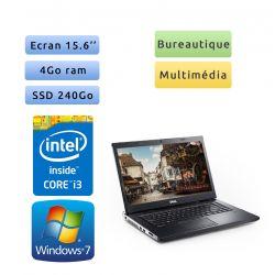 Dell Vostro 3550 - Windows 7 - i3 4Go 240Go SSD - 15.6 - Webcam - Ordinateur Portable PC