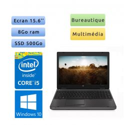 HP Probook 6570b - Windows 10 - i5 8Go 500Go SSD - 15.6 - Webcam - Ordinateur Portable PC