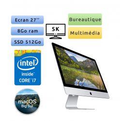 Apple iMac 27'' Retina 5K A2115 (EMC 3442) i7 8Go 512Go SSD - iMac20,1 - Unité Centrale