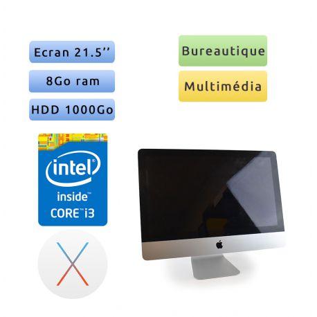Apple iMac 21.5'' A1311 (EMC 2389) i3 8G 1To - Grade B - Unité Centrale