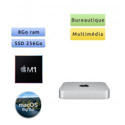 Apple Mac mini A2348 (EMC 3569) M1 8Go 256Go SSD - Macmini9,1 - 2020 - Unité Centrale