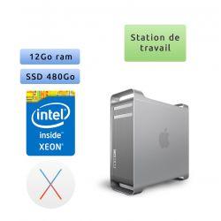 Apple Mac Pro Eight Core Xeon - A1186 2180 - 12Go 480Go SSD - MacPro3,1 - Station de Travail