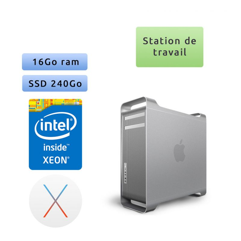 Apple Mac Pro Xeon 2.66Ghz A1289 (EMC 2314) - 16Go 240Go SSD - MACPRO4.1 - Station de Travail