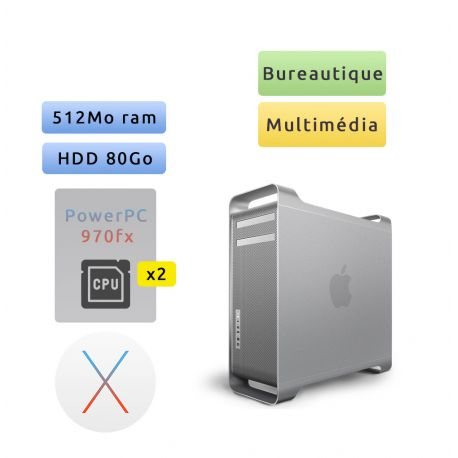 Apple Power Mac G5 A1047 (EMC 1969C) M9455LL/A 2 X 2GHz - Unité Centrale Multimédia