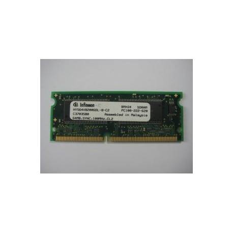 SDRAM PC133 64MB Infineon - Barrette Memoire RAM