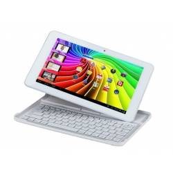Polaroid MIDC147 16 Go Blanc et son clavier - Tablette Multimedia Tactile