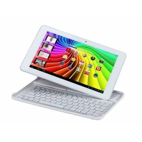 Polaroid MIDC147 16 Go Blanc et son clavier - Tablette Multimedia Tactile