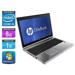 HP EliteBook 8560p - Windows 7 - i5 8GB 1000GB - HD6470M - 15.6 - Webcam - Station de Travail Mobile PC Ordinateur