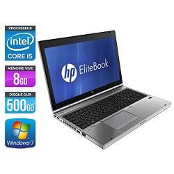 HP EliteBook 8560p - Windows 7 - i5 8GB 500GB - HD6470M - 15.6 - Webcam - Station de Travail Mobile PC Ordinateur