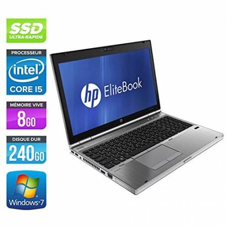 HP EliteBook 8560p - Windows 7 - i5 8GB 240GB SSD - HD6470M - 15.4 - Webcam - Station de Travail Mobile PC Ordinateur