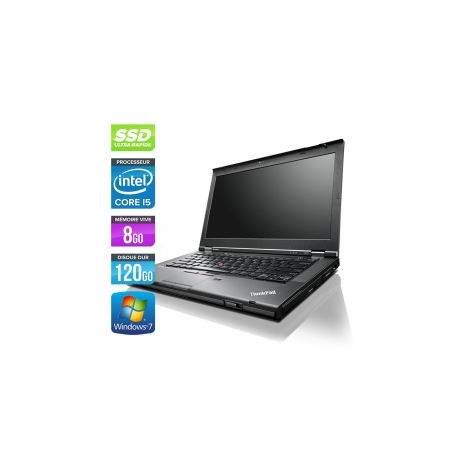 Lenovo ThinkPad T430 - Windows 7 - Webcam - i5 8GB 120GB SSD - 14.1'' - Webcam - Ordinateur Portable PC